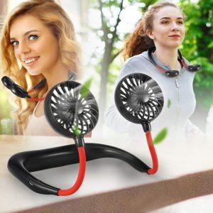 2000 MAre USB Portable Fan Hands-Free Neck Fan