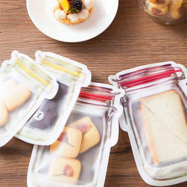 6 piece set Reusable Ziplock Bags