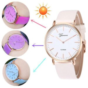 Uv Magic Colour Changing Analog Water Proof Wrist Watch For Men & Women