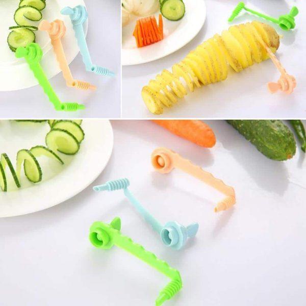 Vegetable Carrot Cucumber Spiral Slicer Kitchen Cutting